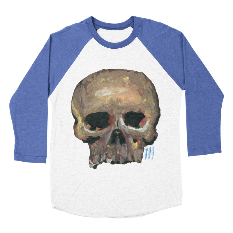 SKULL091815 Women's Baseball Triblend Longsleeve T-Shirt by strawberrymonkey's Artist Shop