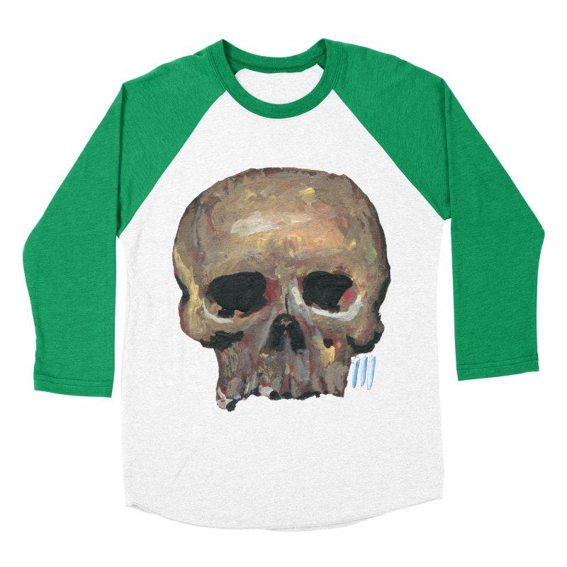 SKULL091815 Women's Baseball Triblend Longsleeve T-Shirt by strawberrymonkey's Artist Shop