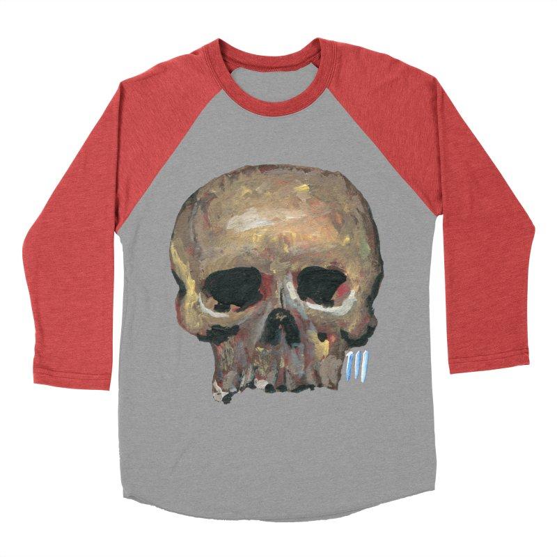 SKULL091815 Men's Baseball Triblend T-Shirt by strawberrymonkey's Artist Shop
