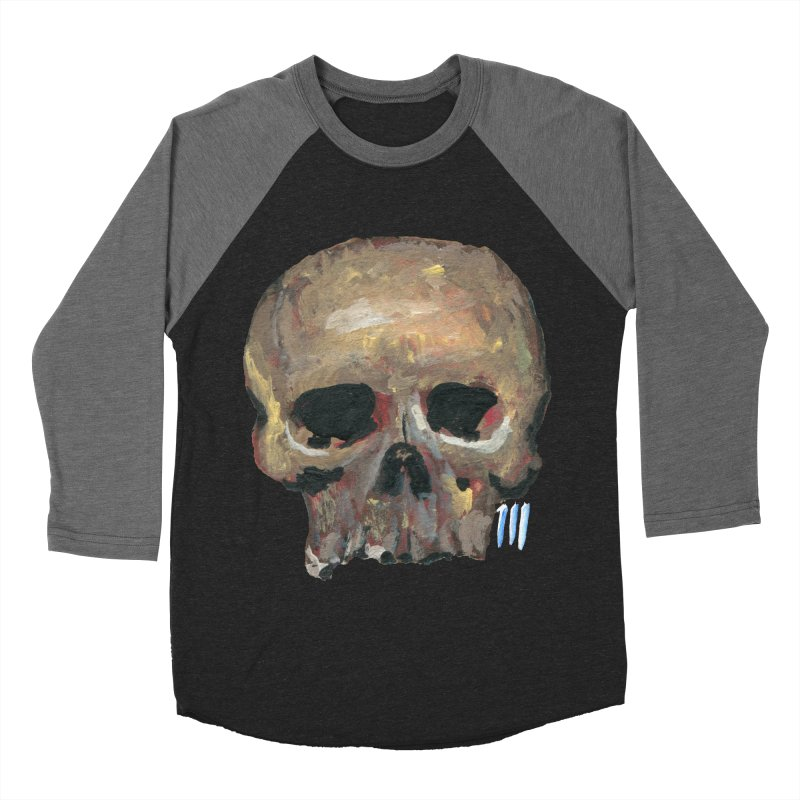 SKULL091815 Men's Baseball Triblend T-Shirt by strawberrymonkey's Artist Shop