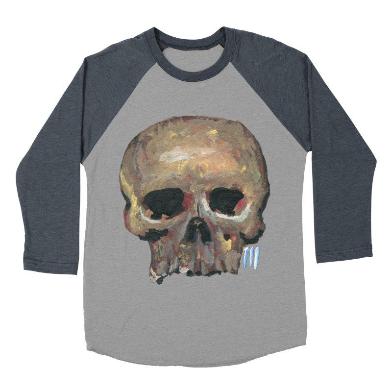 SKULL091815 Men's Baseball Triblend Longsleeve T-Shirt by strawberrymonkey's Artist Shop