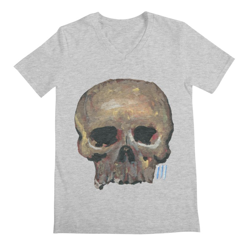 SKULL091815 Men's Regular V-Neck by strawberrymonkey's Artist Shop