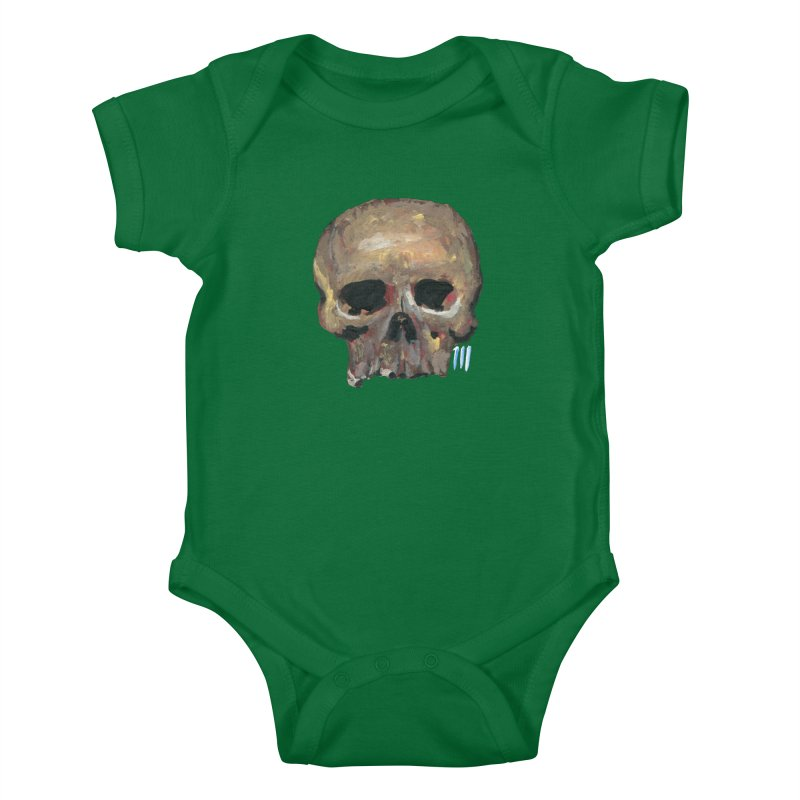 SKULL091815 Kids Baby Bodysuit by strawberrymonkey's Artist Shop