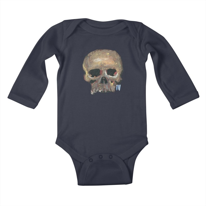 SKULL091815 Kids Baby Longsleeve Bodysuit by strawberrymonkey's Artist Shop