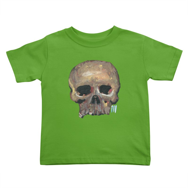 SKULL091815 Kids Toddler T-Shirt by strawberrymonkey's Artist Shop