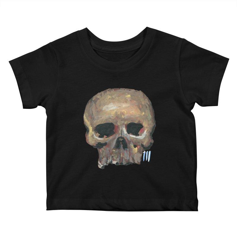 SKULL091815 Kids Baby T-Shirt by strawberrymonkey's Artist Shop