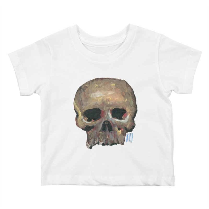 SKULL091815 Kids Baby T-Shirt by strawberrymonkey's Artist Shop