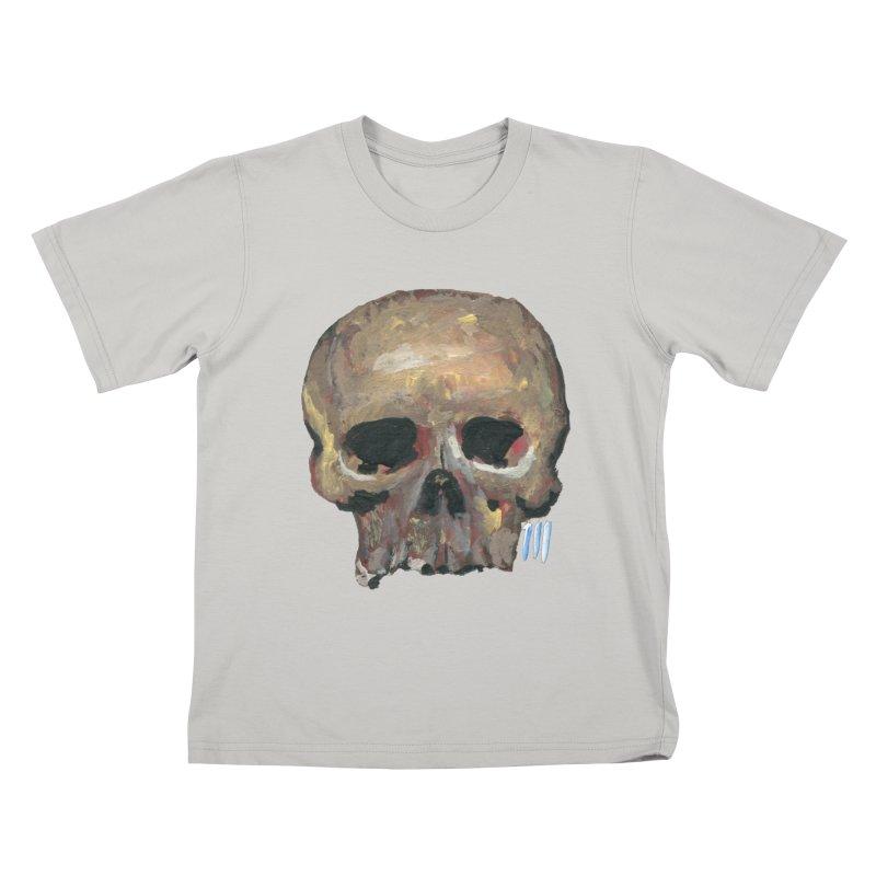 SKULL091815 Kids T-shirt by strawberrymonkey's Artist Shop