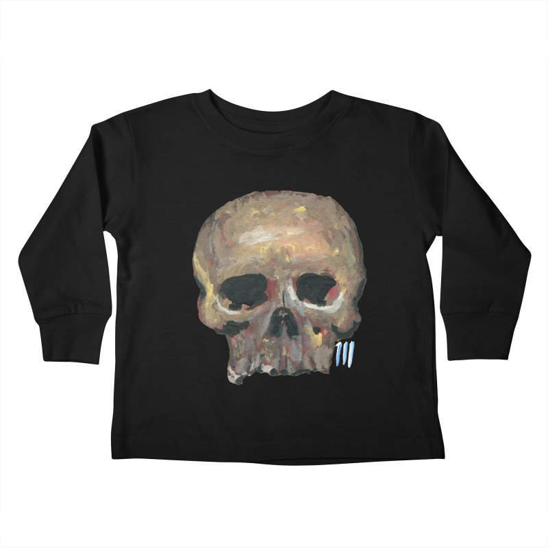 SKULL091815 Kids Toddler Longsleeve T-Shirt by strawberrymonkey's Artist Shop