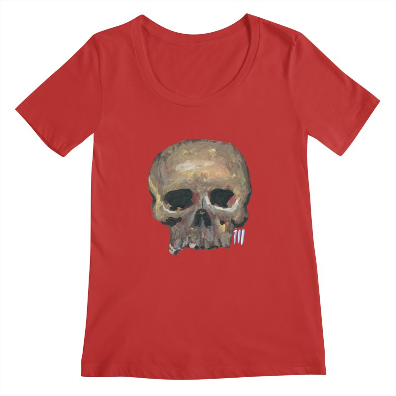 SKULL091815 Women's Scoopneck by strawberrymonkey's Artist Shop