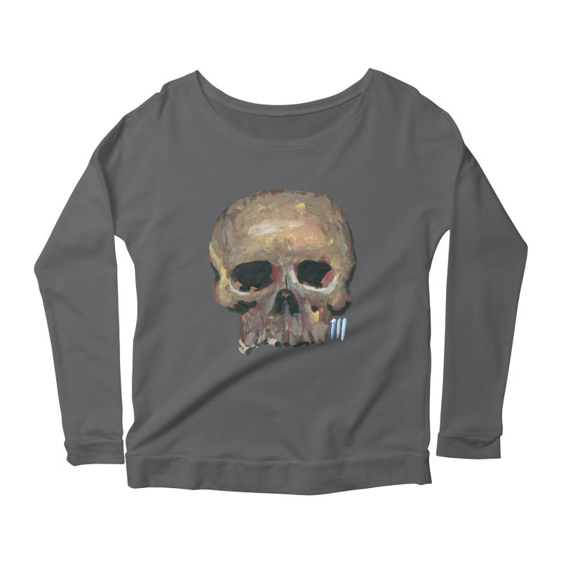 SKULL091815 Women's Longsleeve Scoopneck  by strawberrymonkey's Artist Shop