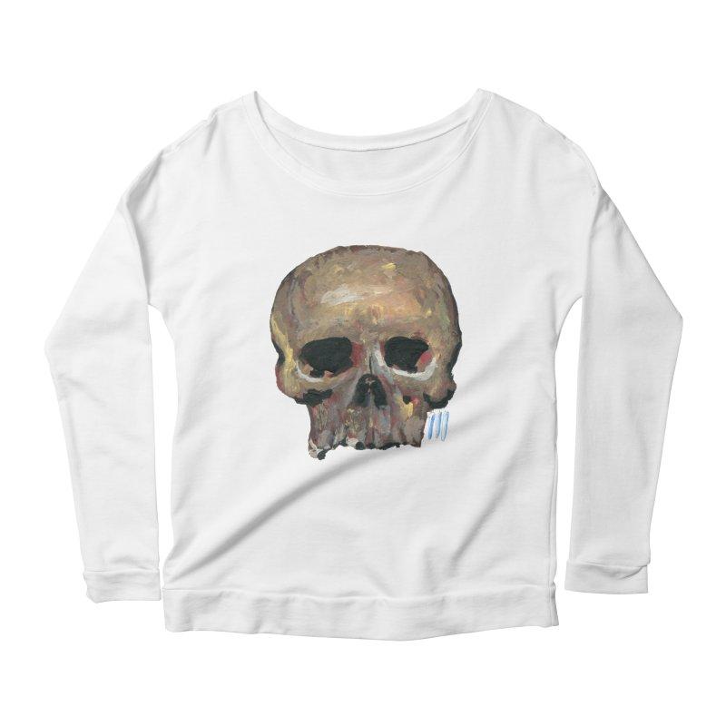 SKULL091815 Women's Scoop Neck Longsleeve T-Shirt by strawberrymonkey's Artist Shop