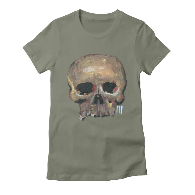 SKULL091815 Women's Fitted T-Shirt by strawberrymonkey's Artist Shop
