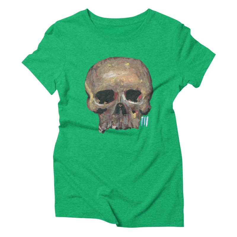 SKULL091815 Women's Triblend T-Shirt by strawberrymonkey's Artist Shop