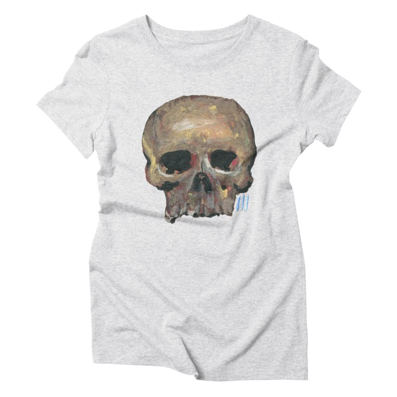 SKULL091815 Women's Triblend T-shirt by strawberrymonkey's Artist Shop