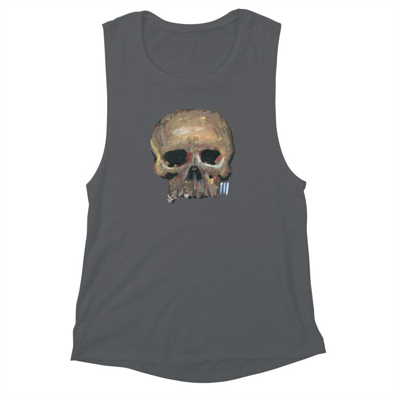 SKULL091815 Women's Muscle Tank by strawberrymonkey's Artist Shop