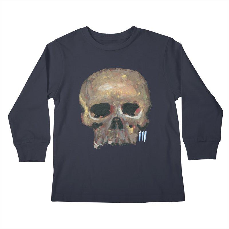 SKULL091815 Kids Longsleeve T-Shirt by strawberrymonkey's Artist Shop