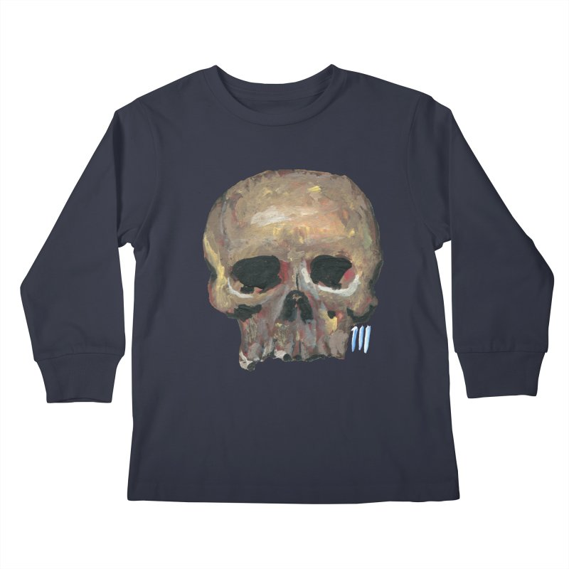 SKULL091815 Kids Longsleeve T-Shirt by strawberrymonkey's Artist Shop