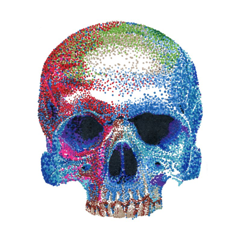 SKULL COLORFUL Women's Fitted T-Shirt by strawberrymonkey's Artist Shop