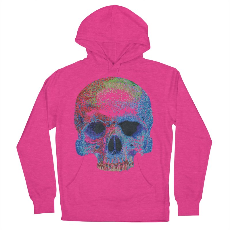 SKULL COLORFUL Women's French Terry Pullover Hoody by strawberrymonkey's Artist Shop