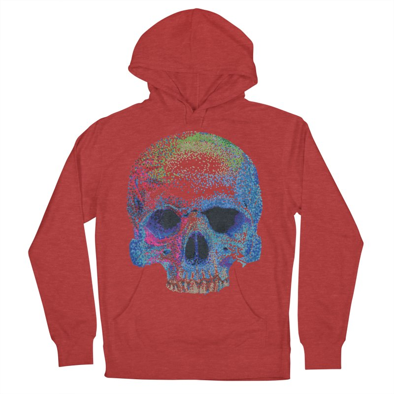 SKULL COLORFUL Men's French Terry Pullover Hoody by strawberrymonkey's Artist Shop