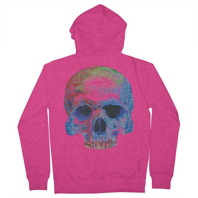 SKULL COLORFUL Women's Zip-Up Hoody by strawberrymonkey's Artist Shop