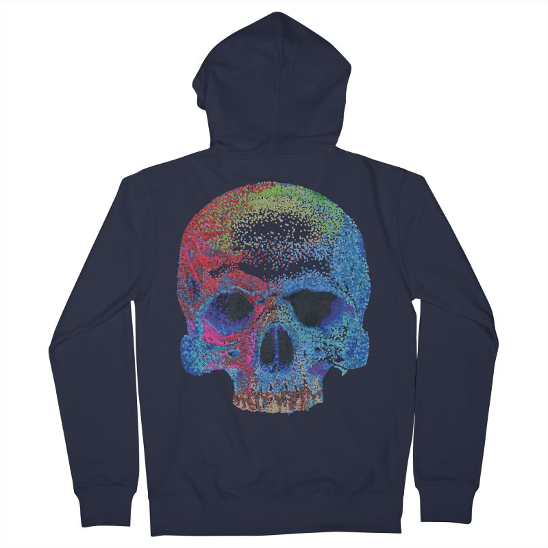 SKULL COLORFUL Women's French Terry Zip-Up Hoody by strawberrymonkey's Artist Shop