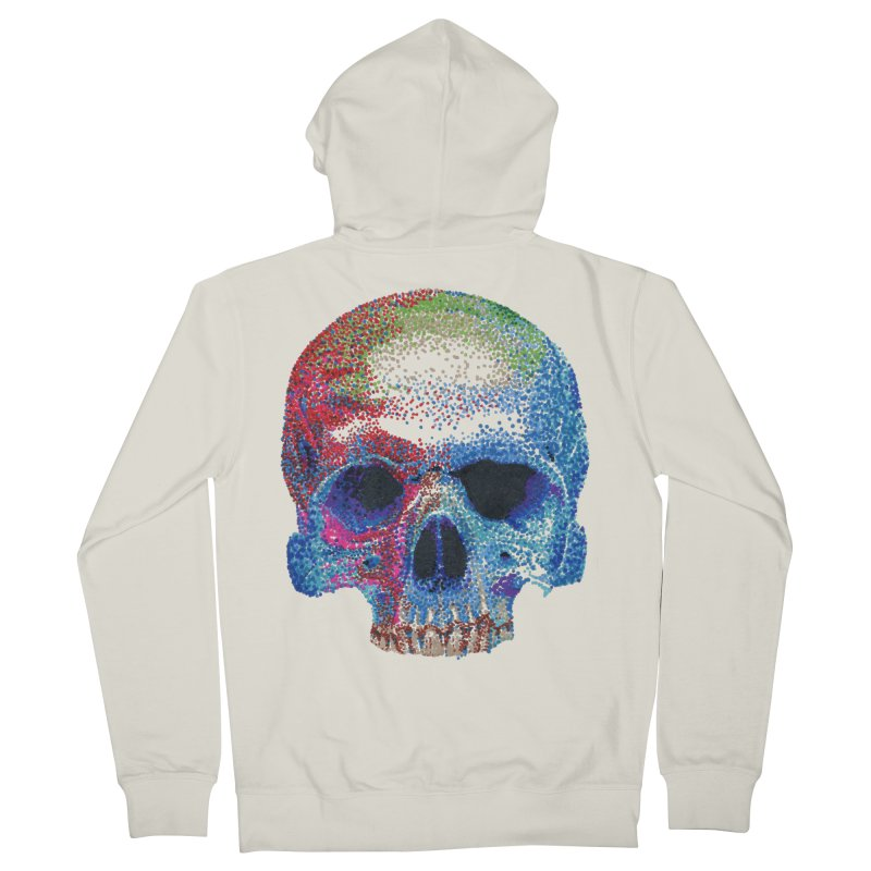 SKULL COLORFUL Men's Zip-Up Hoody by strawberrymonkey's Artist Shop