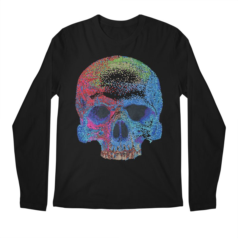 SKULL COLORFUL Men's Longsleeve T-Shirt by strawberrymonkey's Artist Shop
