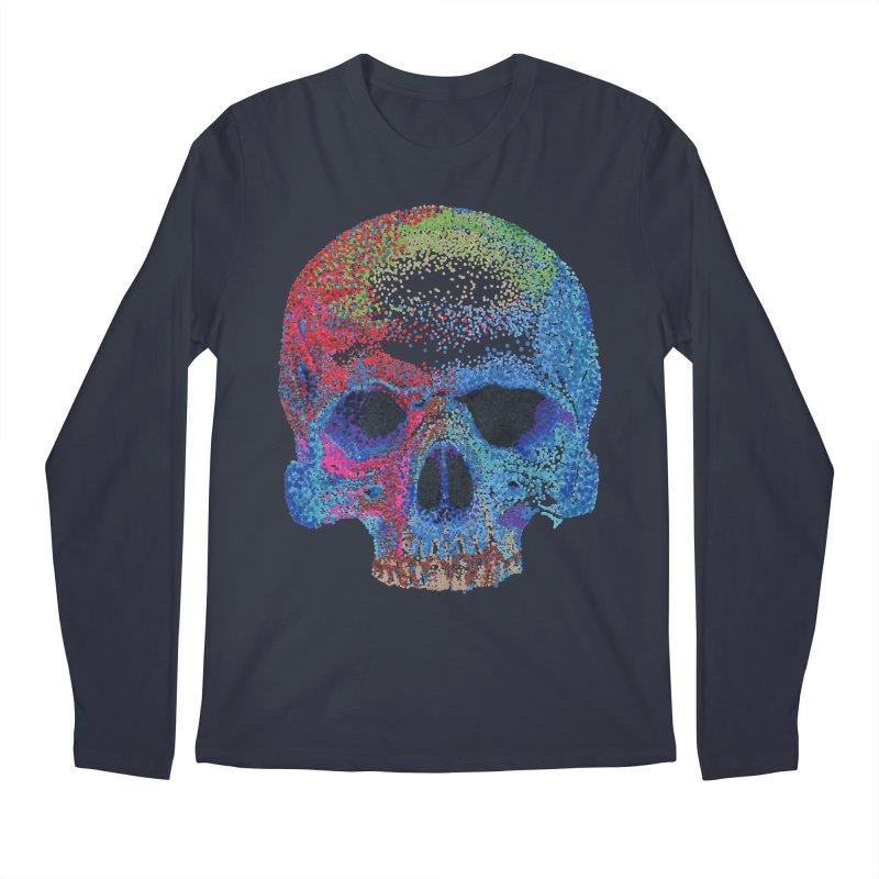 SKULL COLORFUL Men's Regular Longsleeve T-Shirt by strawberrymonkey's Artist Shop