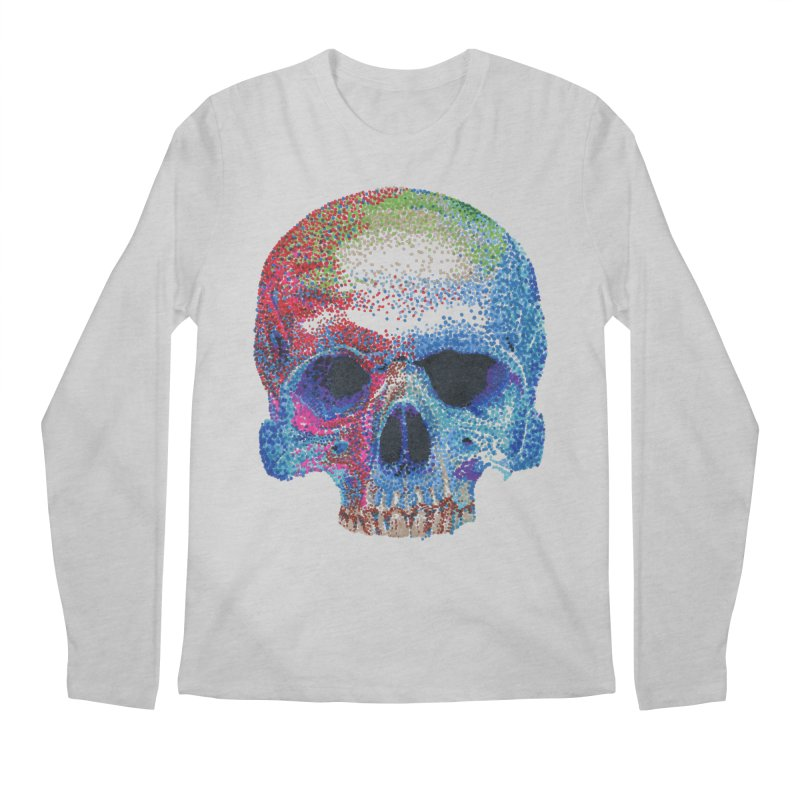 SKULL COLORFUL Men's Regular Longsleeve T-Shirt by strawberrymonkey's Artist Shop