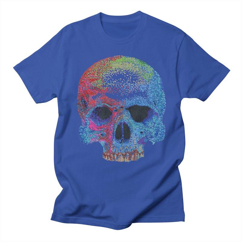 SKULL COLORFUL Men's Regular T-Shirt by strawberrymonkey's Artist Shop