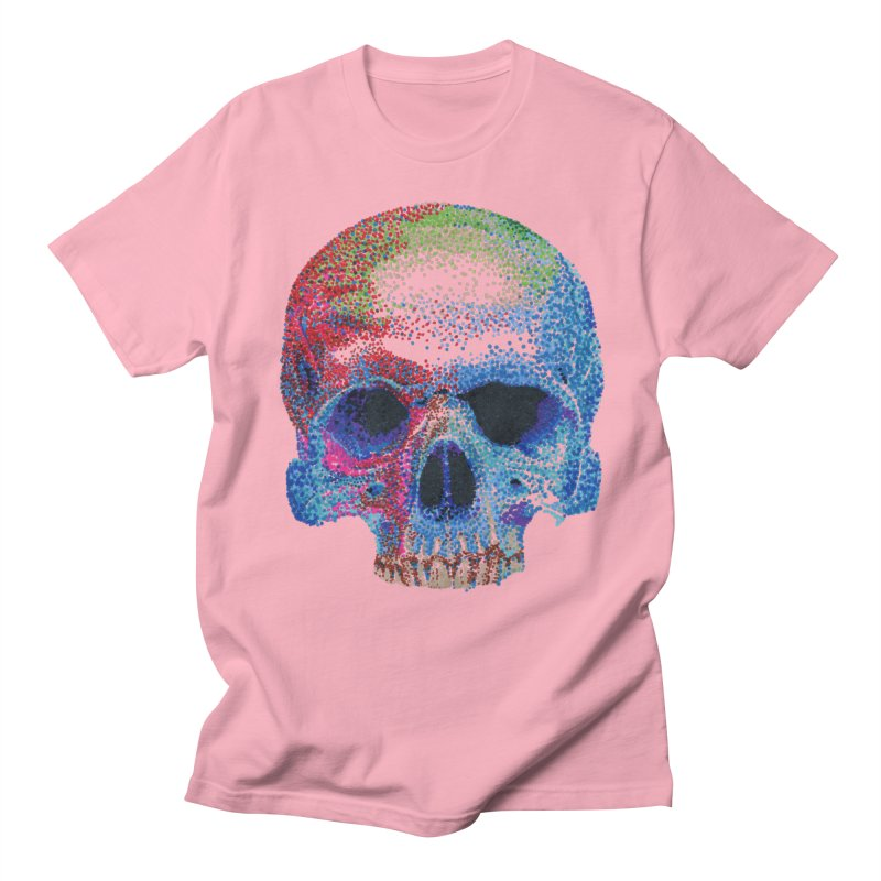 SKULL COLORFUL Men's Regular T-Shirt by strawberrymonkey's Artist Shop