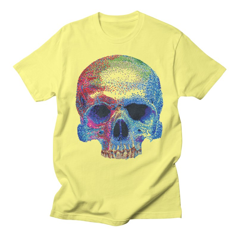 SKULL COLORFUL in Men's Regular T-Shirt Lemon by strawberrymonkey's Artist Shop