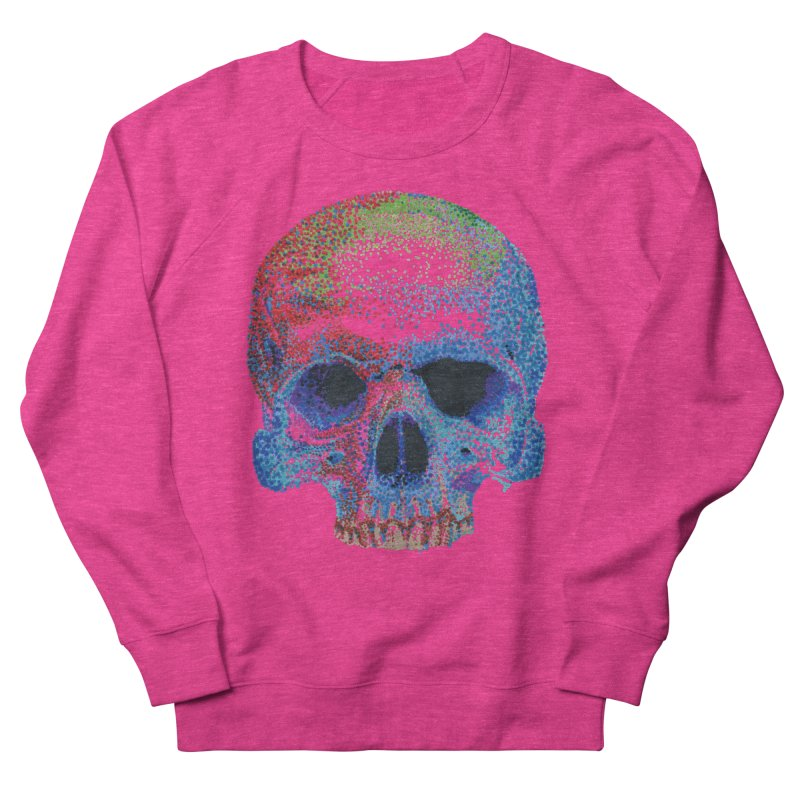 SKULL COLORFUL Women's French Terry Sweatshirt by strawberrymonkey's Artist Shop