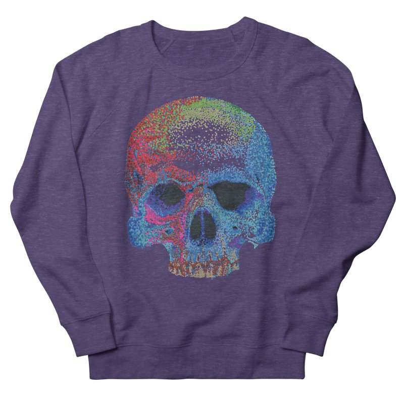SKULL COLORFUL Men's French Terry Sweatshirt by strawberrymonkey's Artist Shop