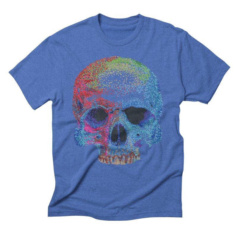 SKULL COLORFUL Men's Triblend T-Shirt by strawberrymonkey's Artist Shop