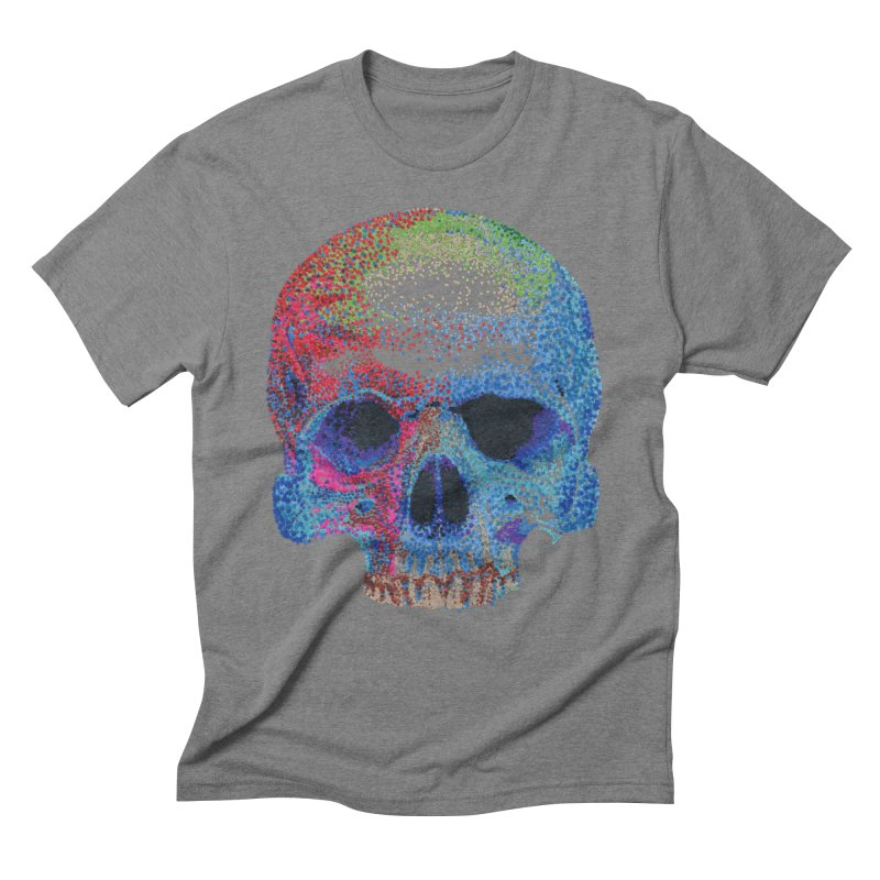SKULL COLORFUL Men's Triblend T-Shirt by strawberrymonkey's Artist Shop