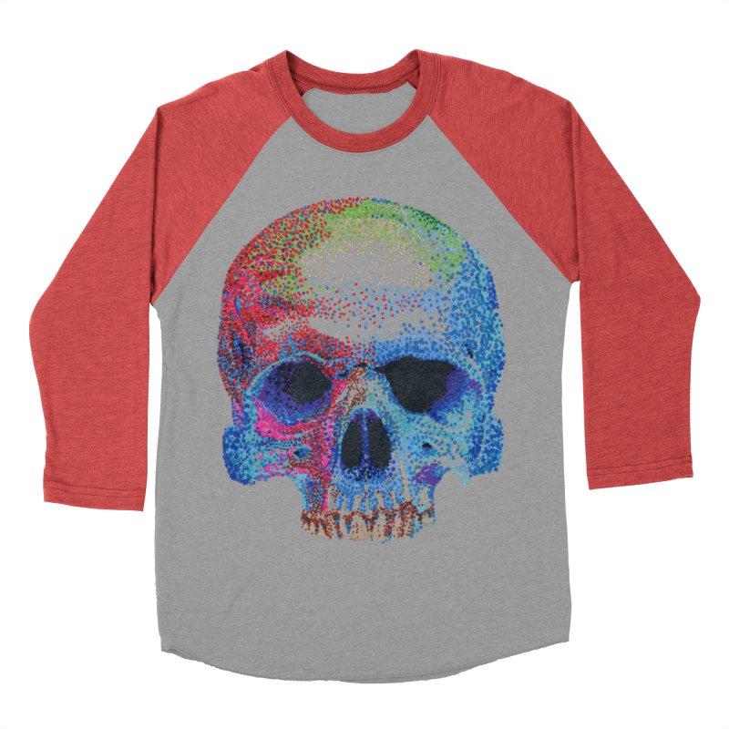 SKULL COLORFUL Women's Baseball Triblend T-Shirt by strawberrymonkey's Artist Shop