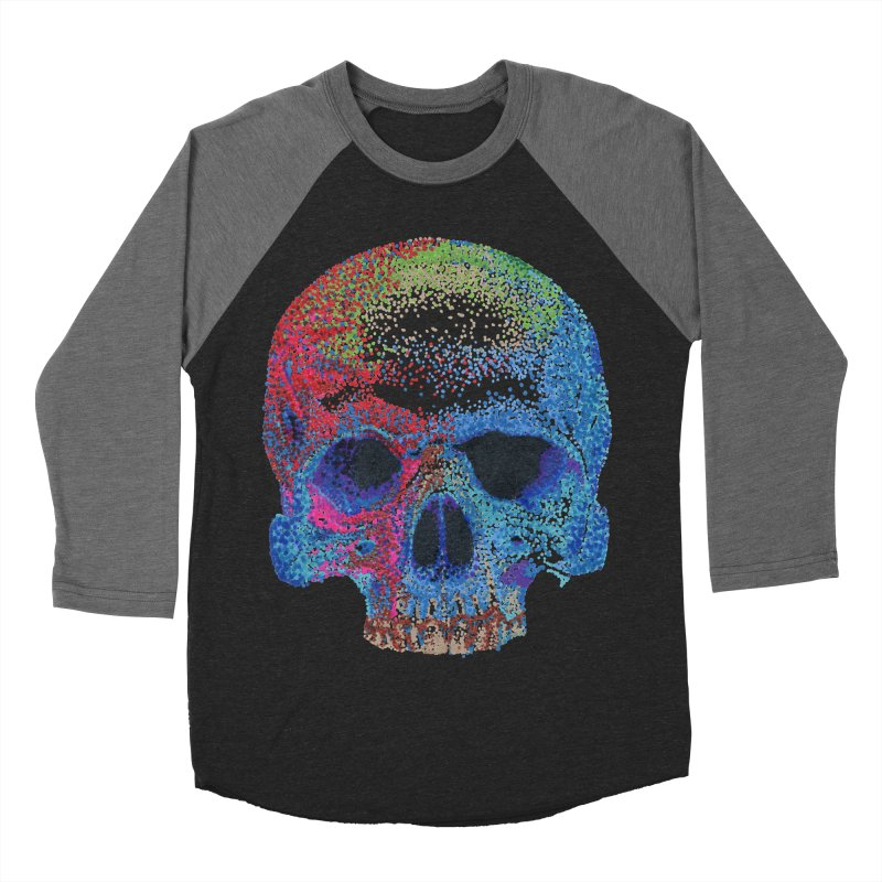 SKULL COLORFUL Women's Baseball Triblend Longsleeve T-Shirt by strawberrymonkey's Artist Shop