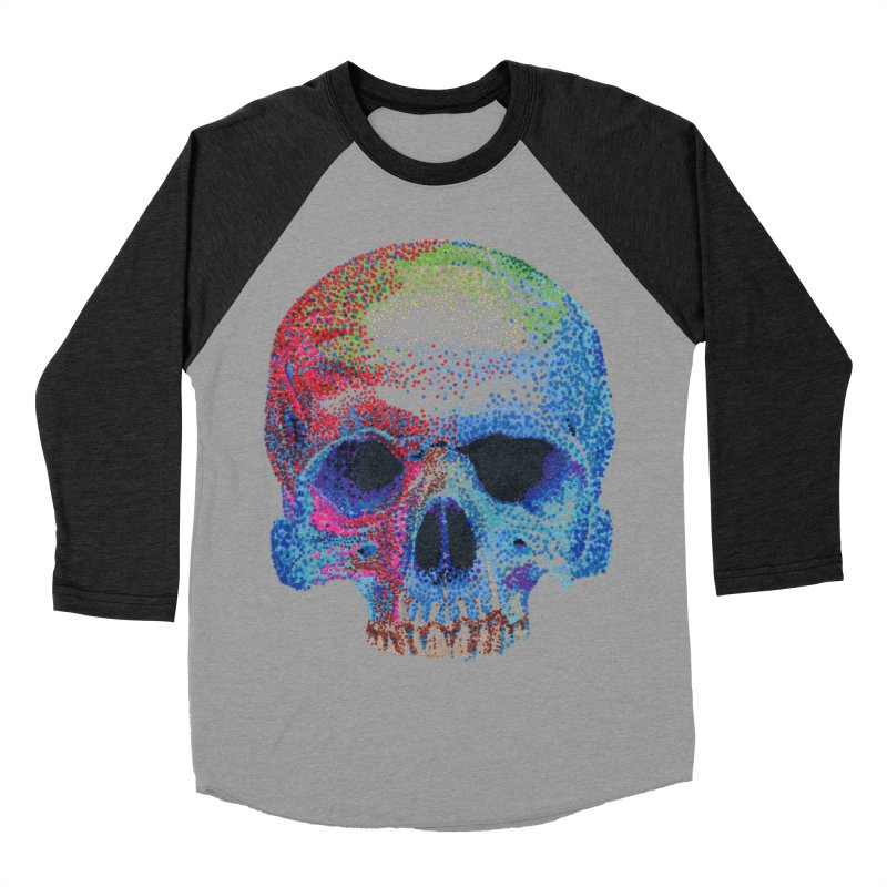 SKULL COLORFUL Women's Baseball Triblend T-Shirt by strawberrymonkey's Artist Shop