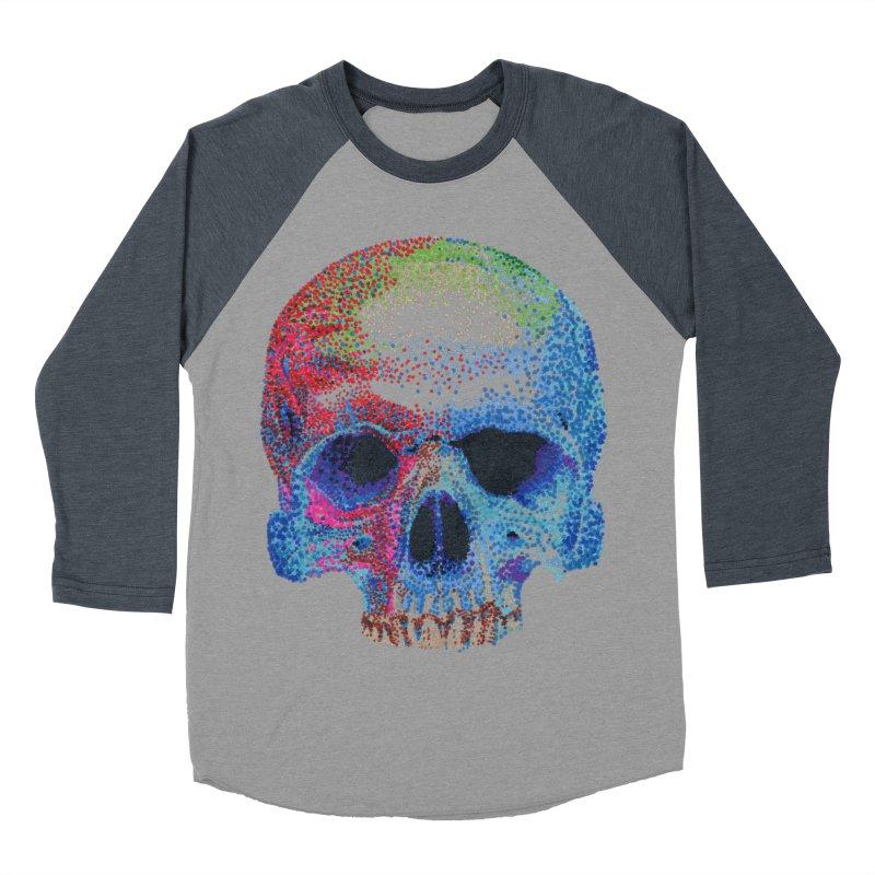 SKULL COLORFUL Men's Baseball Triblend T-Shirt by strawberrymonkey's Artist Shop
