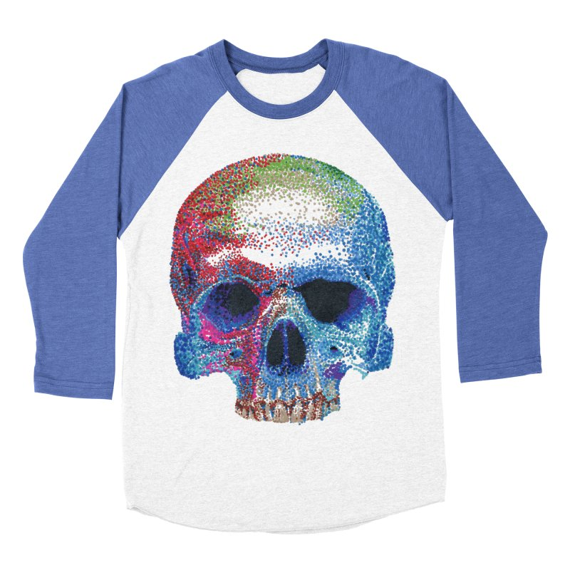 SKULL COLORFUL Men's Baseball Triblend T-Shirt by strawberrymonkey's Artist Shop