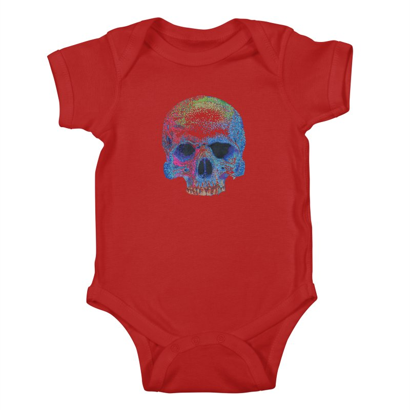 SKULL COLORFUL Kids Baby Bodysuit by strawberrymonkey's Artist Shop