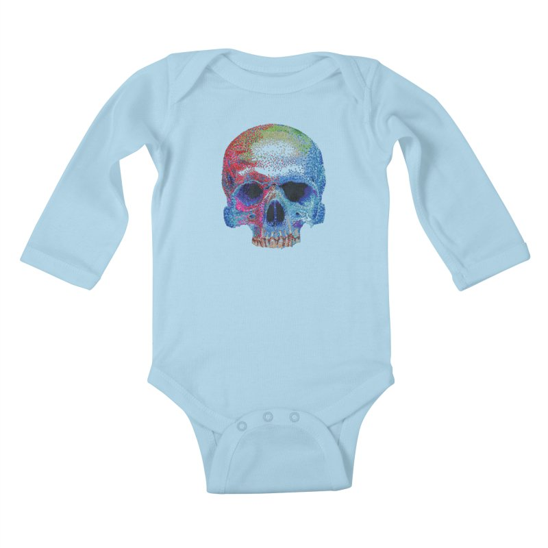 SKULL COLORFUL Kids Baby Longsleeve Bodysuit by strawberrymonkey's Artist Shop