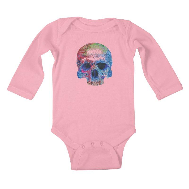 SKULL COLORFUL Kids Baby Longsleeve Bodysuit by strawberrymonkey's Artist Shop
