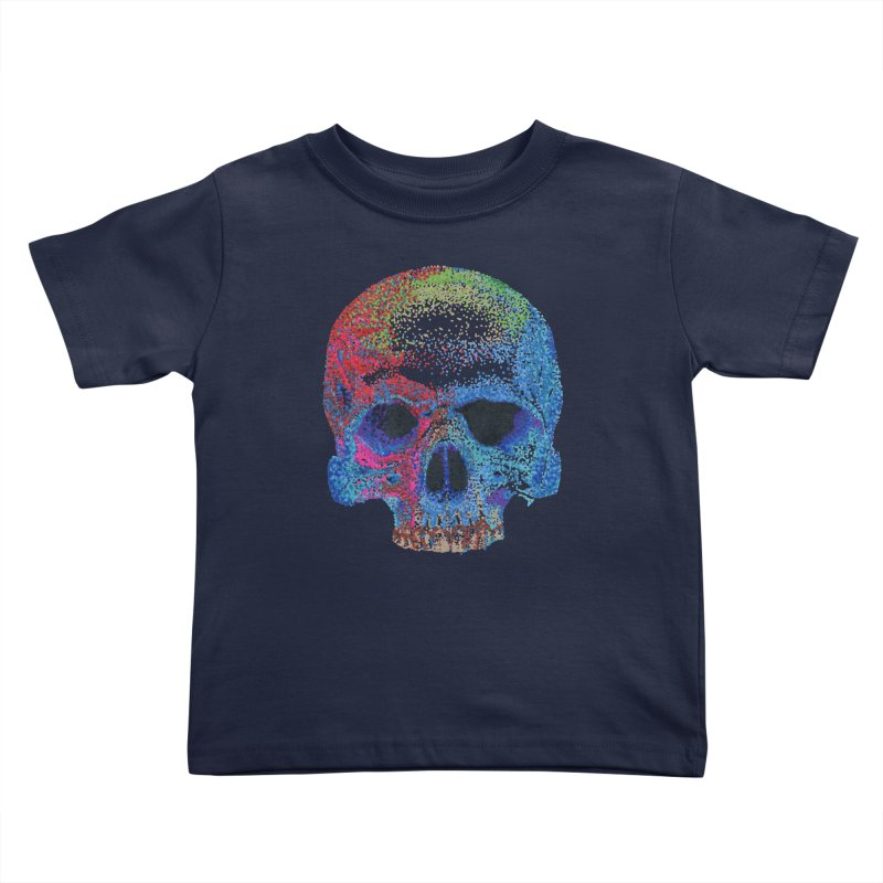 SKULL COLORFUL Kids Toddler T-Shirt by strawberrymonkey's Artist Shop