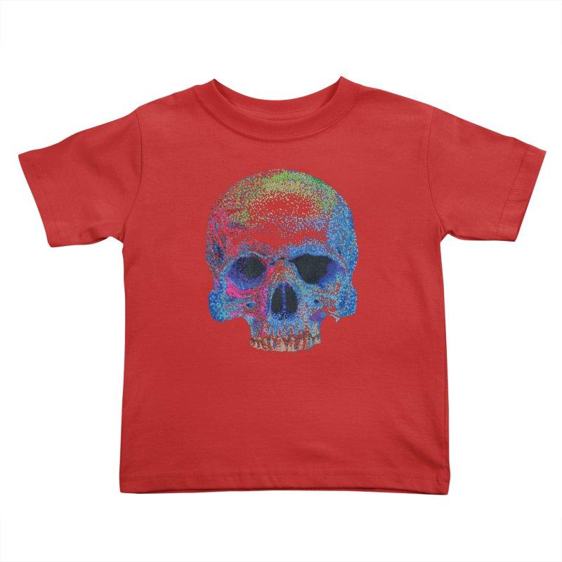 SKULL COLORFUL Kids Toddler T-Shirt by strawberrymonkey's Artist Shop