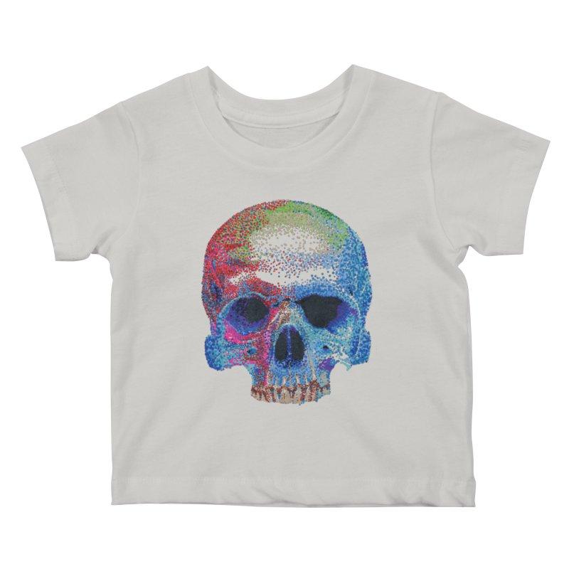 SKULL COLORFUL Kids Baby T-Shirt by strawberrymonkey's Artist Shop