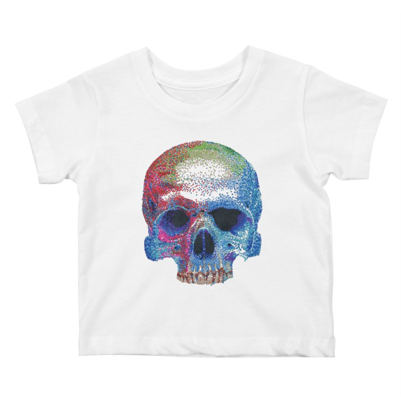 SKULL COLORFUL Kids Baby T-Shirt by strawberrymonkey's Artist Shop